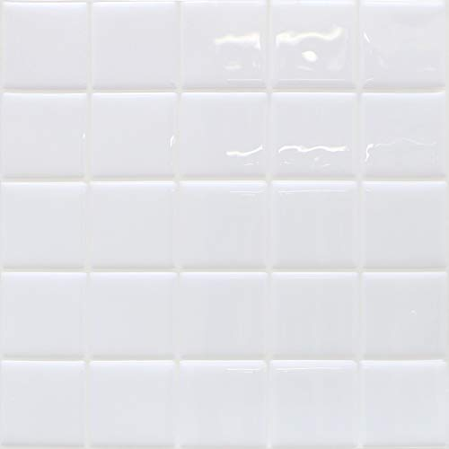 HyFanStr Peel and Stick Wall Tiles for Kitchen and Bathroom, 3D White Stick on Tile Backsplash, Waterproof Subway Tile Stickers Pack of 4
