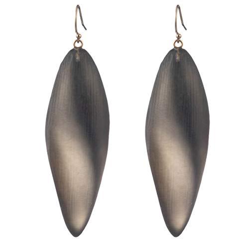 Alexis Bittar Women's Long Leaf Earrings Grey