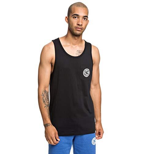 DC Apparel Pocket-Camiseta Sin Mangas para Hombre, Black, S