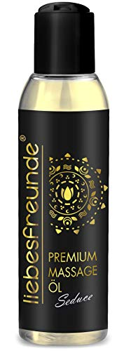 liebesfreunde® Massageöl PREMIUM für genussvolle Massagen - Massage Öl pflegend, 150 ml