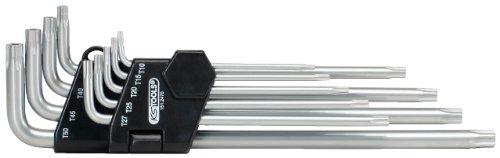 Preisvergleich Produktbild KS Tools 151.2470 Fünfstern-Winkelschlüssel-Satz,  Bohrung,  lang,  9-tlg.