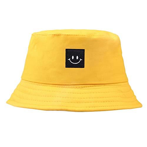 Patrón del Sombrero Bordado Cubo Cuadrado Cap Smiley Unisex Algodón Pescador Sombrero...