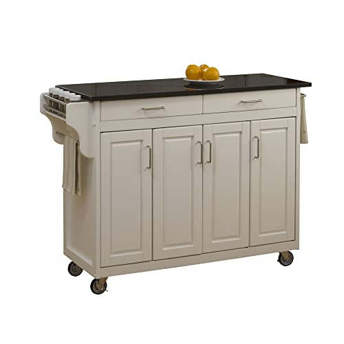 Home Styles Mobile Create-a-Cart White Finish Four Door...