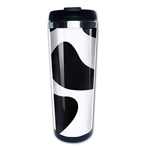 Taza de viaje de café con diseño de vaca, tazas de café, tazas de café con tapas, taza de aislamiento de acero inoxidable, personalizada