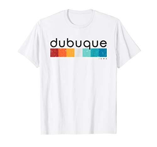 Vintage Dubuque Iowa Retro Design T-shirt
