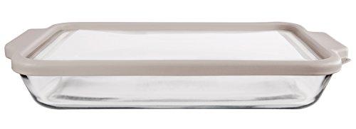Anchor Hocking 3-Quart Glass Baking Dish with Pepper Grey TrueFit Lid