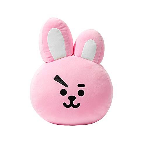 Süßes Cartoon-Wurfkissen, weiches Plüsch-Puppenspielzeug, kugelsicheres Kissen (Kaninchen, L)