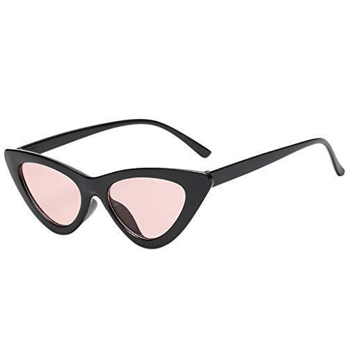 LUCKYCAT Dawnzen 50er Jahre Damen Brille Elvis Rahmen Partybrille Cat Eye Katzenauge Dress up Parteien Damen Retro Sonnenbrille Cat Eye Katzenaugen