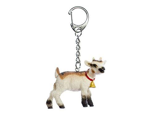 Miniblings Ziege Zicklein Schlüsselanhänger - Handmade Modeschmuck I Anhänger Schlüsselring Schlüsselband Keyring - Ziege Zicklein