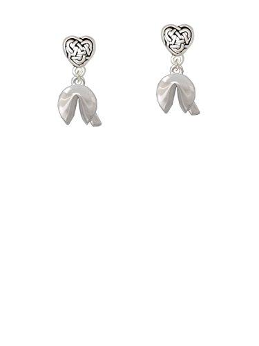 3-D Fortune Cookie - Celtic Heart Earrings