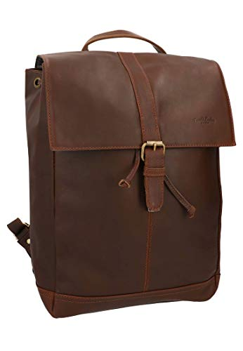 Gusti Rucksack Leder - Jaime Lederrucksack Cityrucksack Unirucksack Arbeitstasche Laptoptasche Tasche Ledertasche Braun