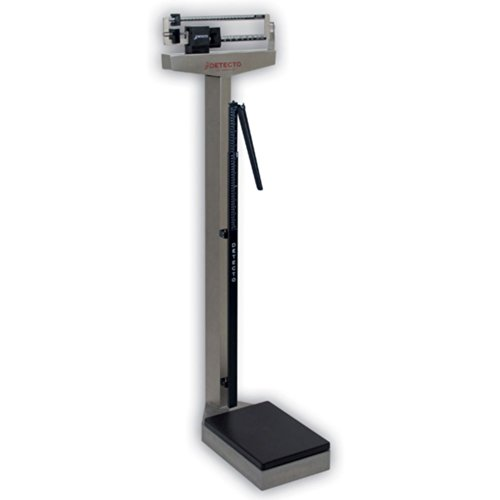 Detecto 439S Stainless Steel-Eye Level Physician Scale with Height Rod