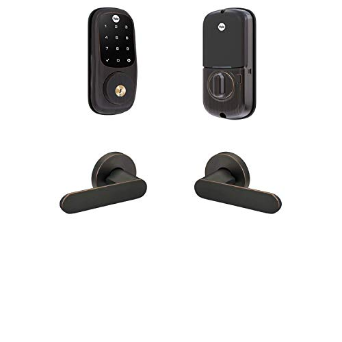 Yale Assure Lock Touchscreen, Wi-Fi Smart Lock with Kincaid Lever - Works with the Yale Access App, Amazon Alexa, Google Assistant, HomeKit, Phillips Hue and Samsung SmartThings, Oil Rubbed Bronze