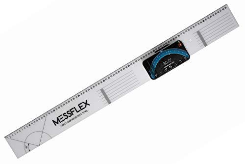 Messflex - next generation tool - innovatives multifunktionales Werkzeug -Patentiert- Zum Arretieren deines Smartphones in Kombination mit der App dient es als Wasserwaage und Neigungsmesser