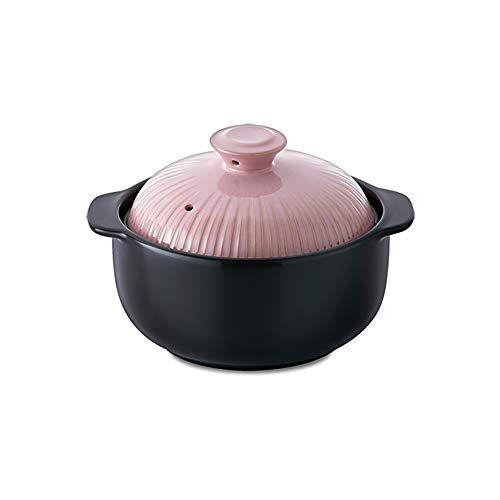 Kitchen Flower Lucia Natural Glazed Ceramic Porcelain Cookware Hot Pot (Sugar Pink 1000ml)