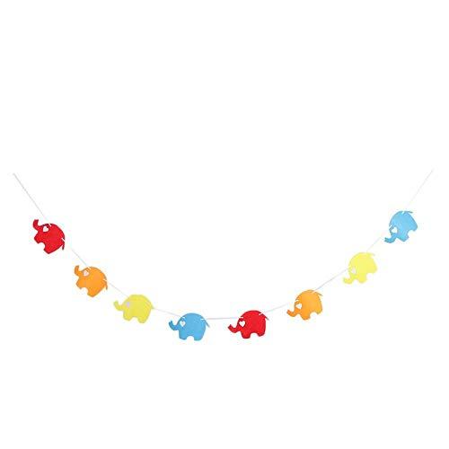 NewbieBoom Newborn 1st Birthday Party Rag Tied HighChair Banner Garland Hanging Decor 2m - Silver, 2 Meters,Gold,2 Meters