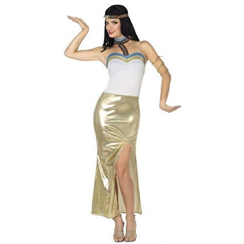 Atosa-26512 Disfraz reina del nilo egipcia, color dorado, XL (26512)