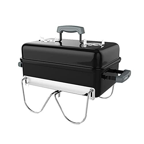 FEANG Grill Barbecue Grill Outdoor Full-Set von Werkzeugen Haushaltskohlegrill Kleiner tragbarer Wilder Edelstahl Raucher BBQ für Picknickgarten Grillwerkzeug