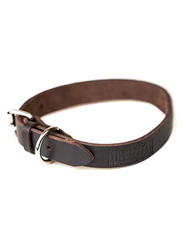 Mighty Paw Leder Hundehalsband, Super Weichem Antik Diamantbesetzt Premium Qualität, Modern Look,...