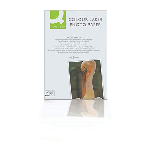 Q-Connect KF01935 Laser Fotopapier, A4, 210 g/qm, 100 Blatt weiß