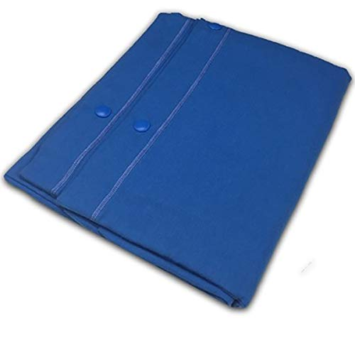RP Pair of Plain Dyed Cotton Pillow Cases with Click Clack Buttons, Royal Blue