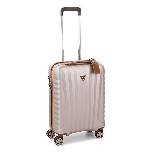 Roncato E-Lite Maleta Cabina avión Champagne, Medida: 55 x 40 x 20 cm, Capacidad: 38 l, Pesas: 2.2 kg, Maleta Cabina avión ryanair