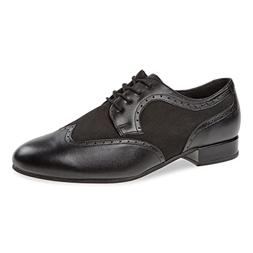 Diamant Zapatos de baile para hombre 089-026-145-V, piel y nobuck, extra anchos, tacón estándar de 2 cm, fabricado en Alemania, Negro , 43 1/3 EU X-Weit