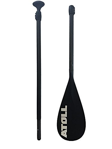 Carbon Fiber Shaft Stand Up Paddle Board Paddle with Nylon Blade, Adjustable Isup Travel Paddle