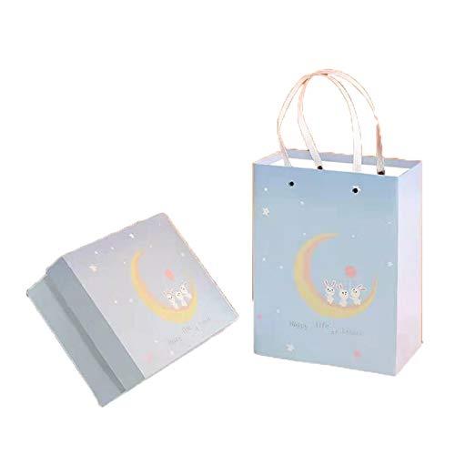 Warmhouse Caja De Regalo Azul Y Rosa Fresca, Caja De Regalo Romántico, Reutilizable, para Regalo De Empresa, Graduación, Navidad-B-M