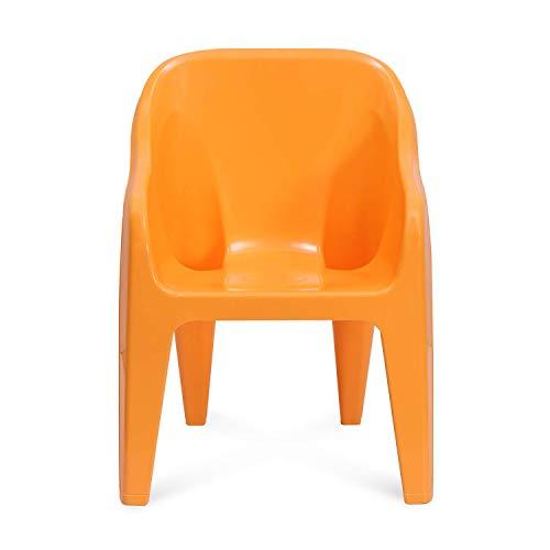 Nilkamal EEEZY Gem Kid's Strong and Durable Plastic Chair (Orange)
