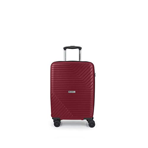 Gabol - Osaka   Maleta de Cabina Rigidas con Cargador USB de 37 x 55 x 21 cm con Capacidad para 44 L de Color Rojo