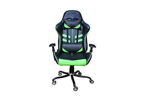 Atzei Esports AE-700X Gaming-Ergonomic Chair PU Leather, 2D Armrest, Butterfly Mechanism, 90°-180° [Black&Green]