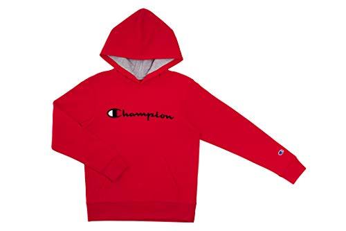 Champion Kinder-Kleidungs-Sweatshirt, Heritage, Fleece, zum Überziehen mit Kapuze - Rot - Large