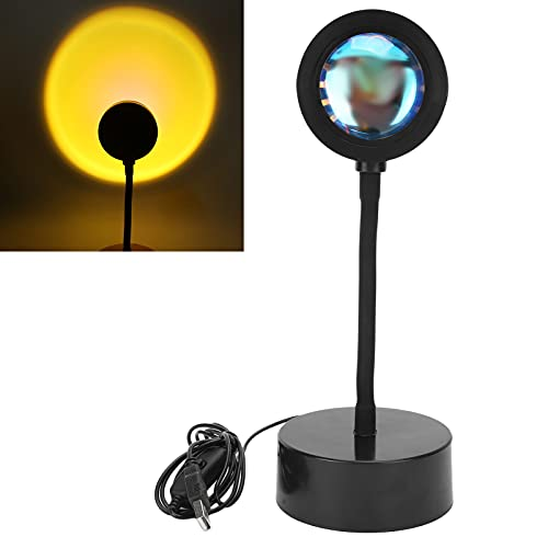 Yinhing Lámpara de proyección de Puesta de Sol, Luz de Piso LED romántica, Proyector de lámpara de Sol de Arco Iris, Luz de Noche de Soporte de Piso Moderno, Lámpara de proyección de Puesta(Sol)