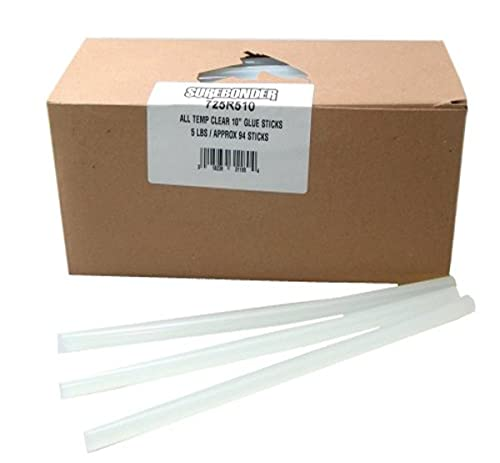Surebonder 725R510 10-Inch All Temperature Glue Sticks, 90 Pieces