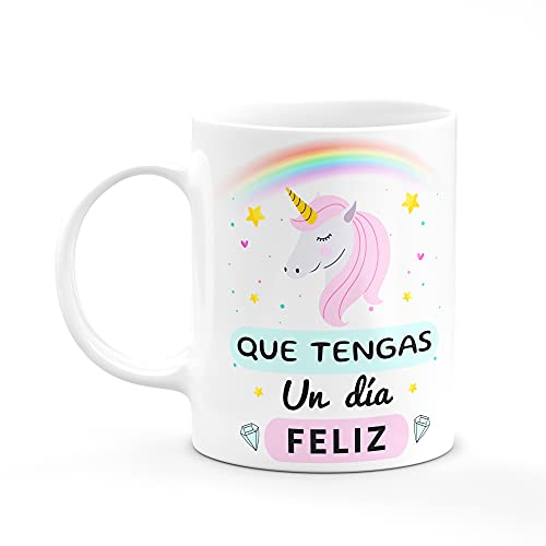 Taza Desayuno Unicornio Madres Dia Feliz Regalos Originales Taza De Cerámica Blanca 11oz (Unicornio)