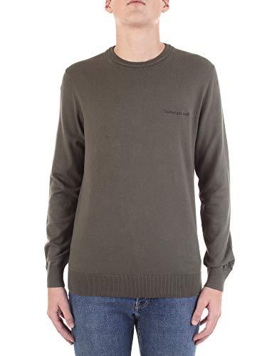 Calvin Klein Essential Crew Neck Sweater Suéter, Deep Depth, XL para Hombre