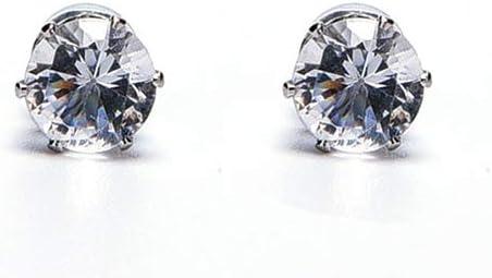wpOP59NE Unisex Men Women Earring 1Pair Magnet Clip On Cubic ZirconiaNo Piercing Jewelry Cool Clear
