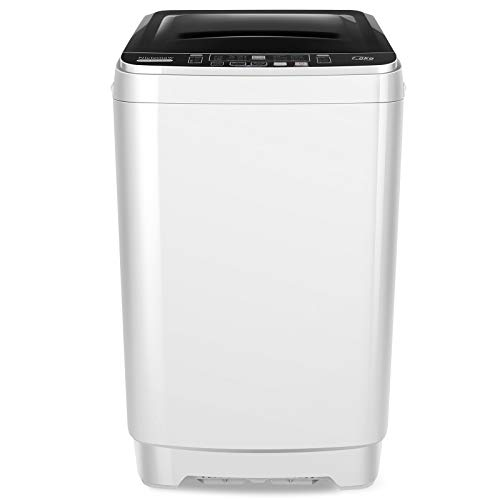 Portable Washer Nictemaw 15.6Lbs Capacity Full-Automatic Washer Machine 1.7 Cu.ft 2 in 1 Compact Laundry Washer 10 Programs 8 Water Level Selections & LED Display Washer and Dryer Combo for Home, Dorm, Apartment and Camping