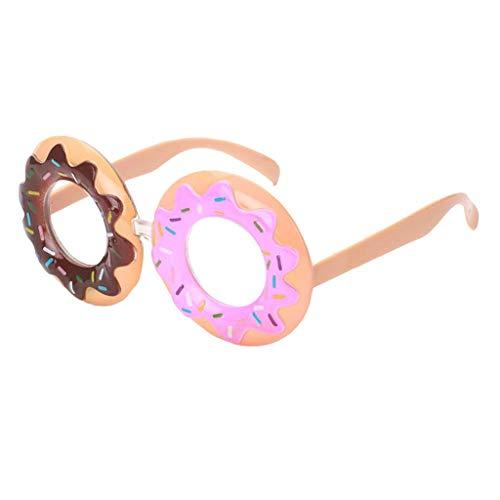 P Prettyia Erwachsene Kinder Partybrille Spassbrille Karnevalsbrille Halloween Kostüm Requisiten - Krapfen