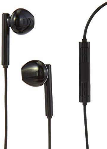 AmazonBasics - Auriculares negros con conector Lightning y certificación MFi de Apple