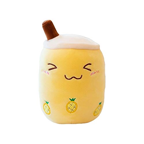 Logo KYBHD Plush Toy Pillow Stuffed Doll Milk Tea Cup Pillow Cushion Kid Toy Birthday Gift lovely (Color : Yellow, Height : 70cm)
