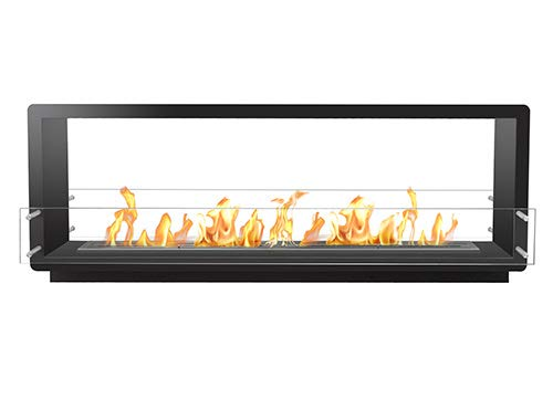 Check Out This Bio Flame 72� Firebox Ds Double Sided 48� Burner Black Fireplace