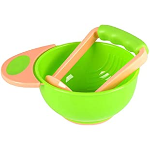 Oumosi Baby Food Grinding Bowls Learn Dishes Handmade Grinding Baby Tool:Donald-trump