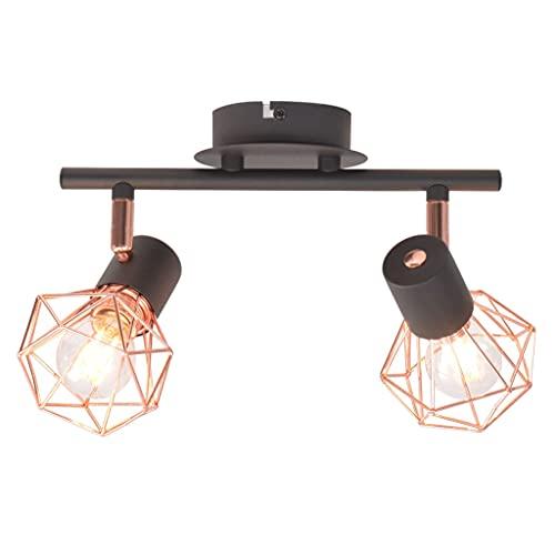 vidaXL Plafonnier 2 Ampoules LED à Filament 8 W Éclairage Lampe Suspension