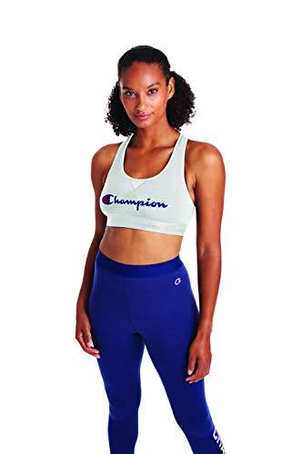 Champion Women's The Authentic Sports Bra, White, X Large