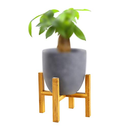YCDC Wooden Plant Stand, Mini Flower Pot Planter Holder, Succulent Small Plants Stand, Modern Indoor Wooden Home Decor Pieces(Not Included the Pot), Size L, Fits Max Diameter 16cm/6.3', 1 Set