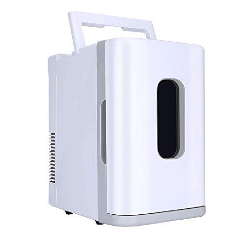 WENYAO Tragbarer Mini-Kühlschrank mit 10 l Kapazität - Autokühlschrank Ultra-leises Auto mit geringem Stromverbrauch Home Dual-Use-Kühlbox mit Kühlbox für Reisen (Größe: Weiß (klassisch))