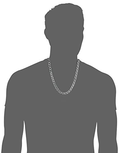 Lavari Jewelers The Braces - Stainless Steel Chain Mariner Necklace for Men - 24 Inches