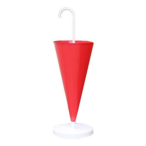 65 cm metalen paraplu wandelstok houder - Gouden/Stand Rood (Kleur: Wit)